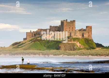 UK Northumberland Bamburgh Castle - Stock Photo