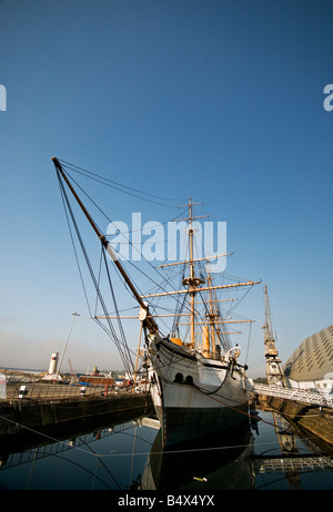 HMS Gannet at Chatham Historic Dockyard in Kent. - Stock Photo