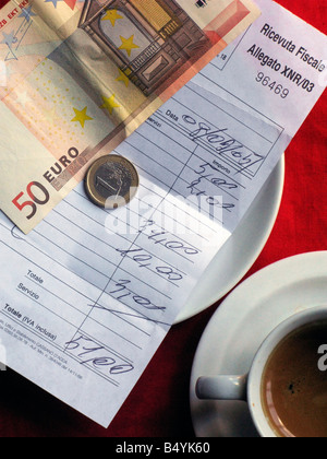 receipted bill, payment - Stock Photo