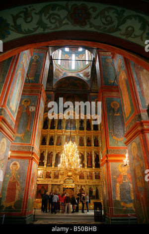 Sep 2008 - The interior of the Cathedral of Virgin Smolensk at the Novodevichy monastery Moscow Russia - Stock Photo