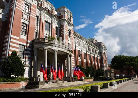 Rear view of Taiwan's Presidential Building, Taipei, Taiwan, Republic of China (ROC). - Stock Photo