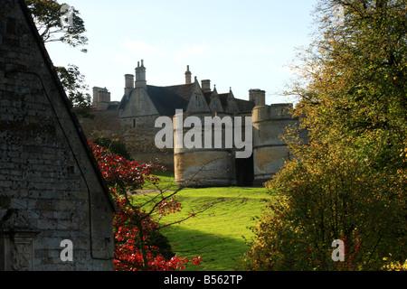The gatehouse of Rockingham Castle,Northamptonshire - Stock Photo