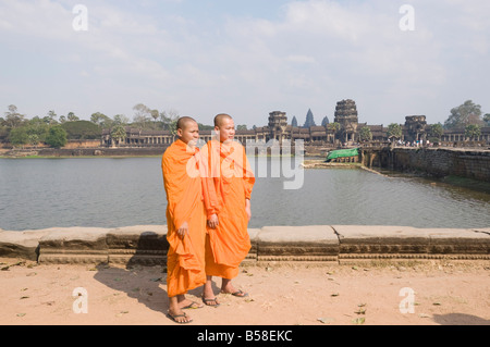 Angkor Wat temple, 12th century, Khmer, Angkor, UNESCO World Heritage Site, Siem Reap, Cambodia, Indochina, Southeast - Stock Photo