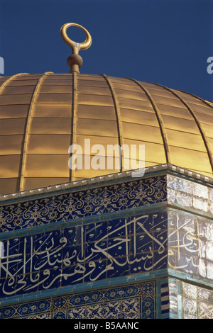 Detail from the Dome of the Rock, Jerusalem, Israel, Middle East - Stock Photo