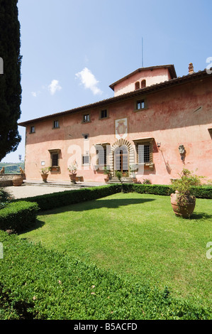 Villa Vignamaggio, used in film Much Ado About Nothing, Chianti, Tuscany, Italy - Stock Photo