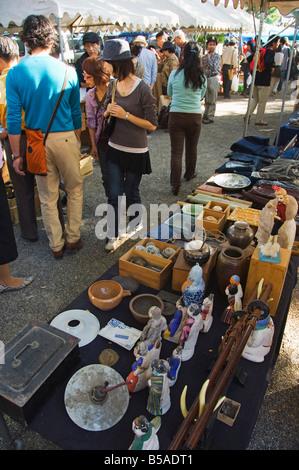 Monthly flea market at Toji Temple Kyoto Honshu Island Japan Asia - Stock Photo