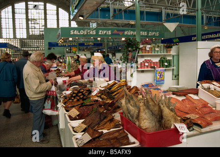 Fish market, Riga, Latvia, Baltic States, Europe - Stock Photo
