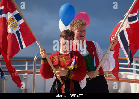Norwegians celebrate National Day on May 17th Norway Scandinavia Europe - Stock Photo