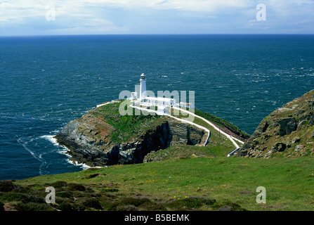 South Stack lighthouse, Anglesey, Wales, , Europe - Stock Photo