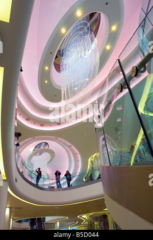Interior of Westfield shopping complex West London - Stock Photo