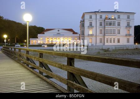 The Kempinski Grand Hotel in Heiligendamm seen from the footbridge, Germany - Stock Photo