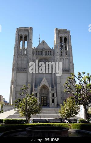 Grace Cathedral, San Francisco California - Stock Photo