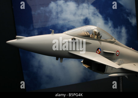 model of euro fighter air force military jet plane - Stock Photo