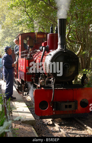 The Old Kiln Light Railway at the Rural Life Centre, Tilford, Surrey with Orenstein & Koppel engine Elouise. - Stock Photo