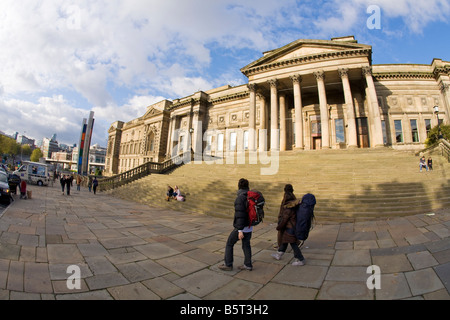 Records Office Central Library and World Museum Liverpool on William Brown Street Merseyside England UK United Kingdom - Stock Photo