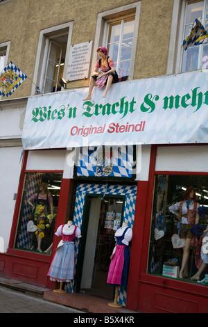 Steindl costumes shop for Oktoberfest Wiesn Munich Germany - Stock Photo