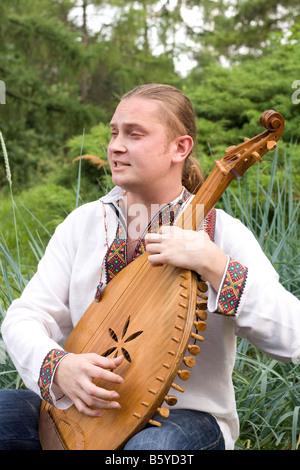 Ukrainian musician - Stock Photo