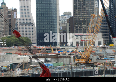 Ground Zero New York construction site for the Peace Tower - Stock Photo
