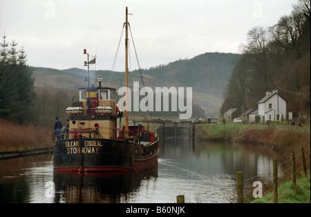 Elean Eisdeal puffer clydepuffer on crinan canal scotland - Stock Photo