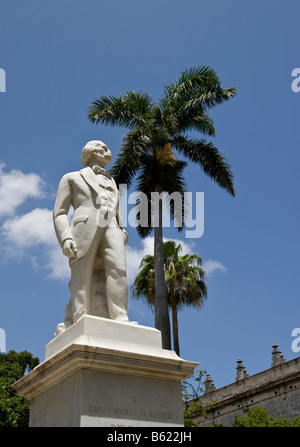 Monument to Carlos Manuel de Cespedes in Havanna, Cuba, Caribbean - Stock Photo