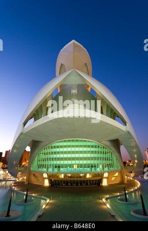Valencia Opera House El Palau de les Arts Reina Sofía Valencia Spain - Stock Photo
