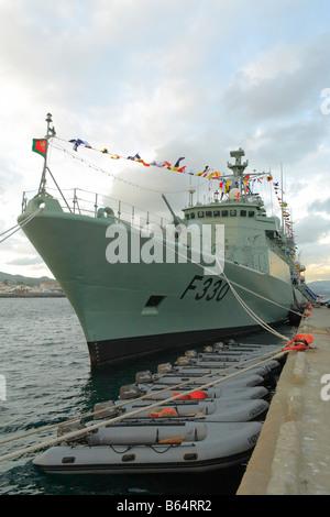Portuguese Navy frigate NRP Vasco da Gama - Stock Photo