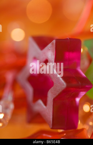 Star of David holiday decoration, close-up - Stock Photo