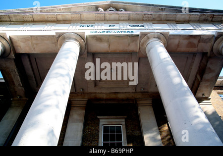 Former Duke of Yorks HQ building in Chelsea, London, now home of Saatchi Gallery - Stock Photo