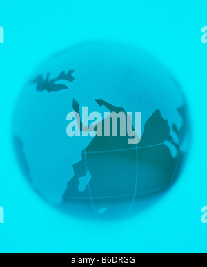 Earth globe, centred on the Indian Ocean. - Stock Photo