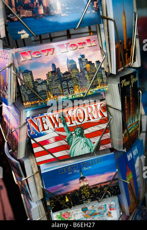 USA, New York, Manhattan, Calendars in Souvenir shop - Stock Photo