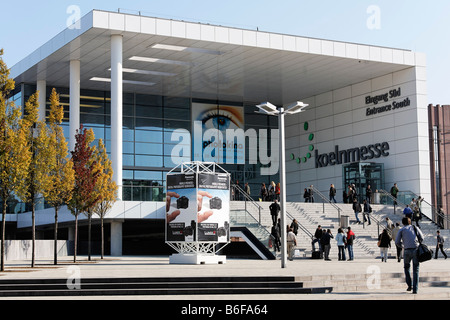 Cologne Trade Fair, south entrance, Photokina exhibition, Cologne, North Rhine-Westphalia, Germany, Europe - Stock Photo