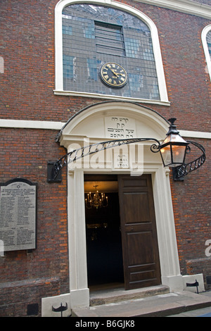 Exterior Bevis Marks Synagogue London England - Stock Photo