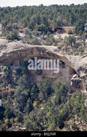 Balcony House, Mesa Verde National Park in Colorado, USA - Stock Photo