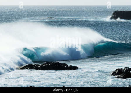 beautiful ocean waves during storm - Stock Photo
