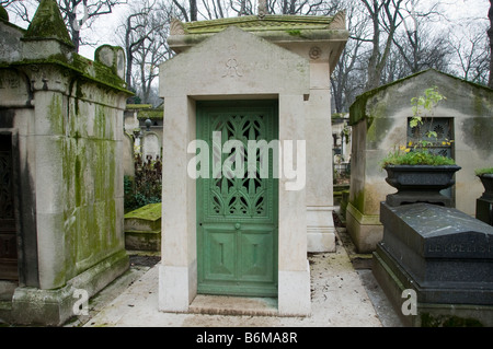 The grave of James Mayer Baron De Rothschild in Pere Lachaise cemetery in Paris France - Stock Photo