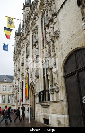 Bruges City Scene, Belgium - Stock Photo