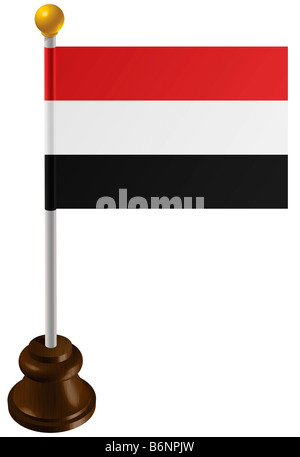 Yemen flag as a marker - Stock Photo