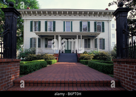 First White House of the Confederacy Executive Residence Of President Jefferson Davis Montgomery Alabama - Stock Photo