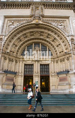 Main entrance of Victoria and Albert Museum in South Kensington in West London England UK - Stock Photo
