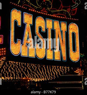 Casino Neon sign - Stock Photo