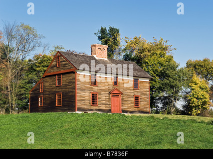 Captain William Smith House Battle Road Trail between Lexington and Concord Minute Man National Historical Park - Stock Photo