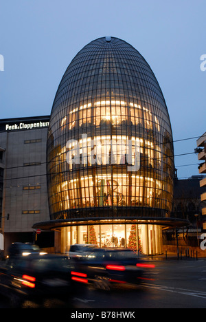 Modern Peek & Cloppenburg department store between Schildergasse and Caecilienstrasse, Cologne, North Rhine-Westphalia, - Stock Photo