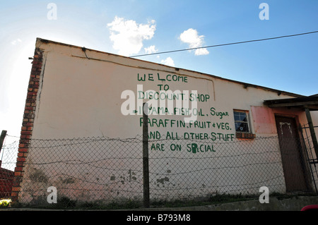 Township village store, Grahamstown, South Africa - Stock Photo