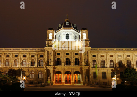 Museum of Art History, Kunsthistorisches Museum, Maria-Theresien-Platz, Vienna, Austria, Europe - Stock Photo
