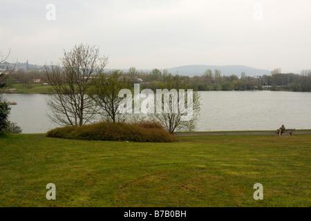 Fendrod Lake, Swansea, West Glamorgan, South Wales, U.K., in Spring - Stock Photo