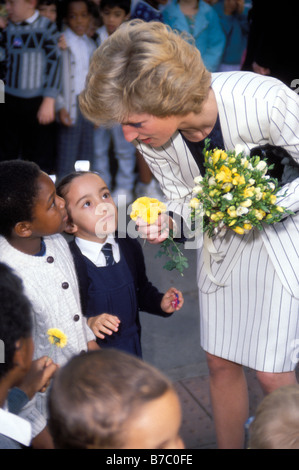 HRH, Diana, Princess of Wales. visits the London Lighthouse Centre for AIDS Patients London, England. October 5 - Stock Photo