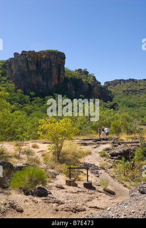 View from Nourlangie Rock looking East towards Arnhem Land in Kakadu National Park - Stock Photo