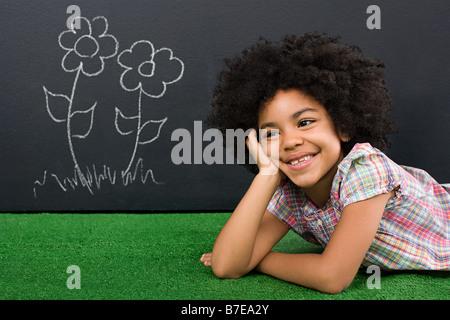 A girl thinking - Stock Photo