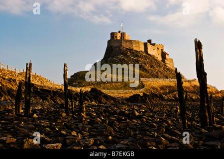 Lindisfarne Castle, Holy Island, Northumberland - Stock Photo