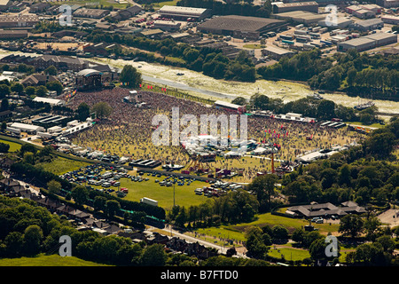 The Isle of Wight Festival from the air - Stock Photo
